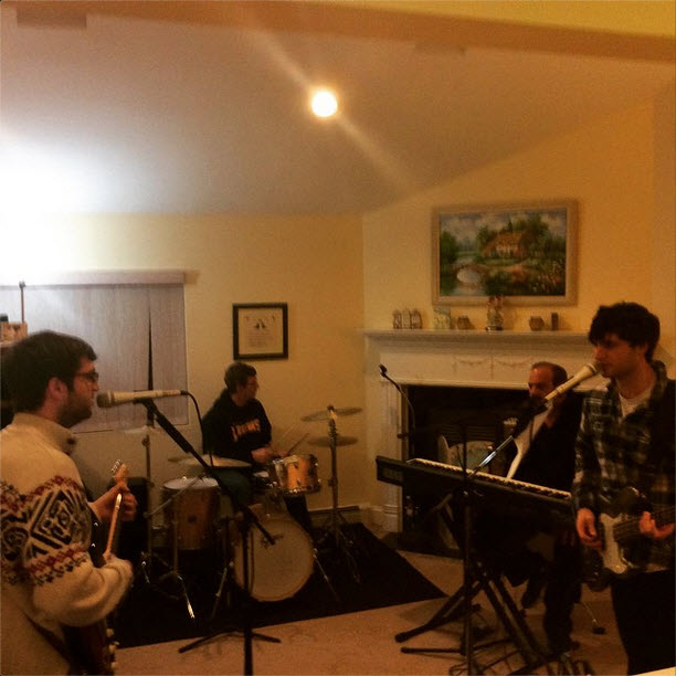 Jamming with Dad and Uncle Lawrence at a family get together for the holidays on Sunday 12/28/14.