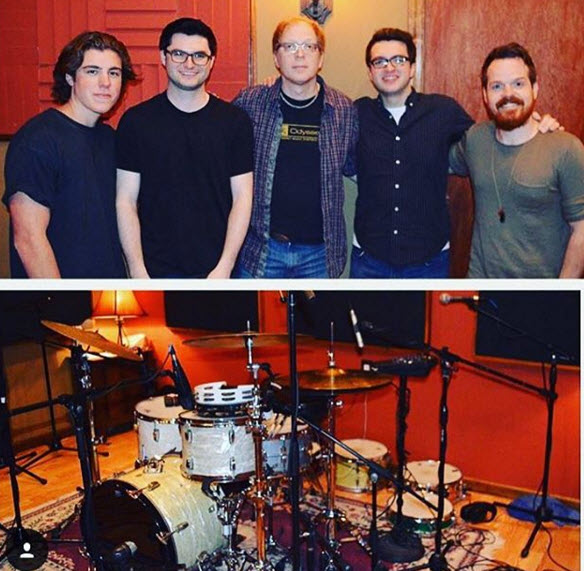 Sam Woolf, Matt Como, Andy Burton, Andrew Como, and Aaron Sterling at VuDu Studio in Port Jeff NY 4/10/16.