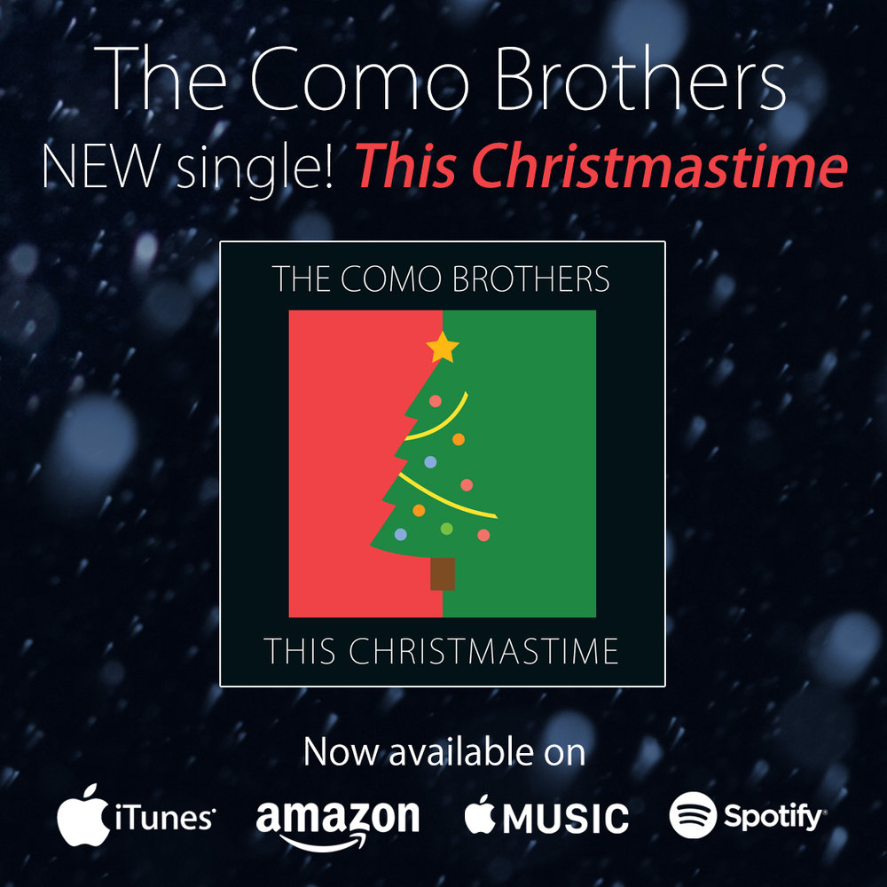 """This Christmastime"" released on 12/16/16. Recorded in LA with Andy Burton on keyboards, Aaron Sterling on percussion, Andrew Como on guitar, and Sean Hurley on Bass. Matt Como singing vocals. Kenta Yonesaka mixed this in NYC at Germano Studios and Herb Powers JR. mastered it in his Florida studio."