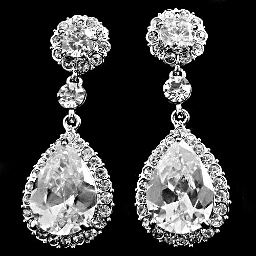 Crystal Chic Earrings - Clear (ER75) — Rosi s Bridal Studio e7e11cd523