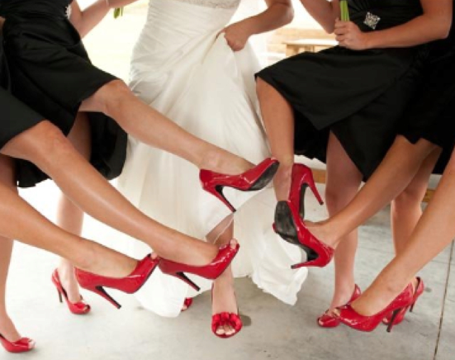 You guessed it... I absolutely love the non-traditional colorful approach to shoes!!!