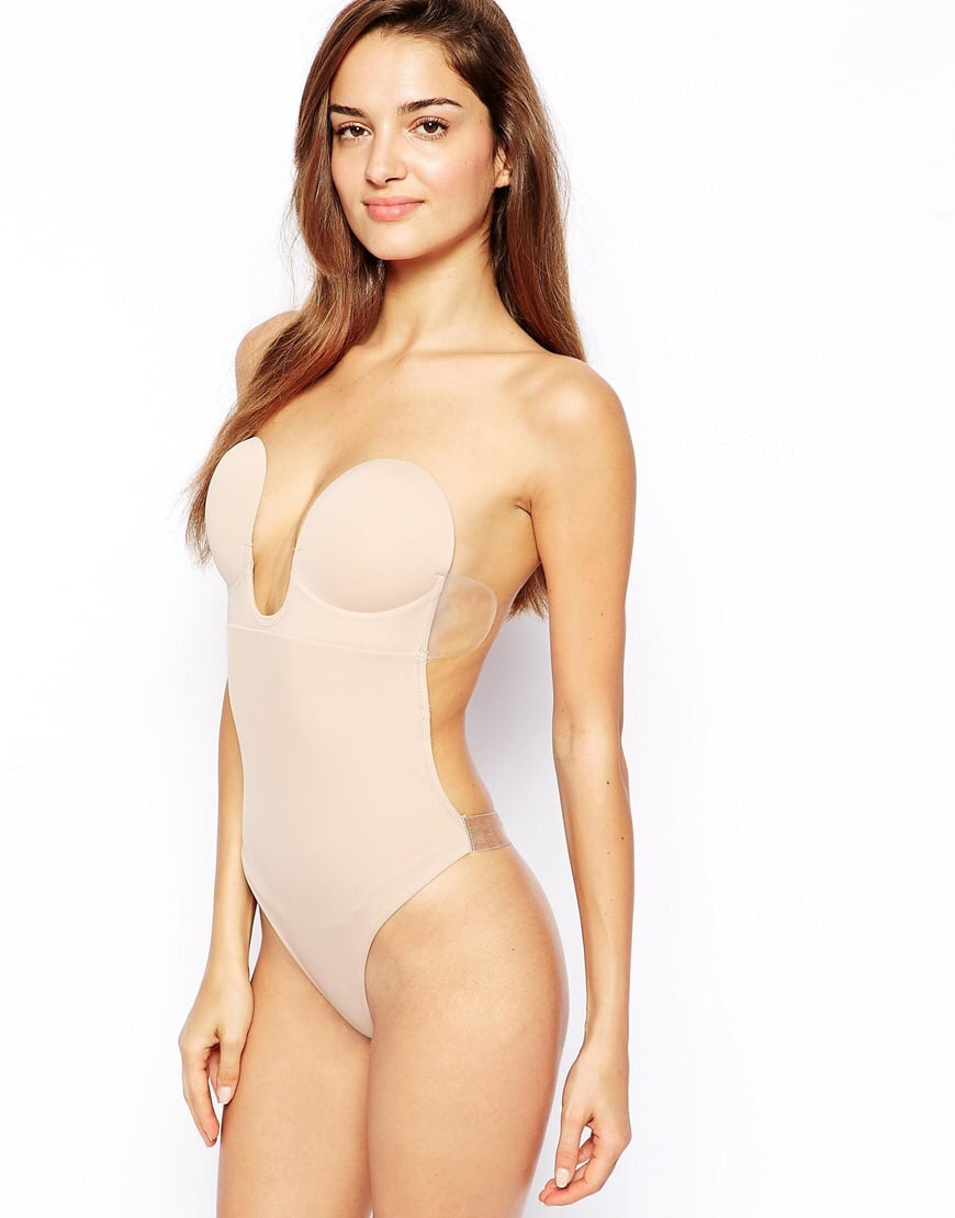 U-Plunge backless strapless body suit ($52)