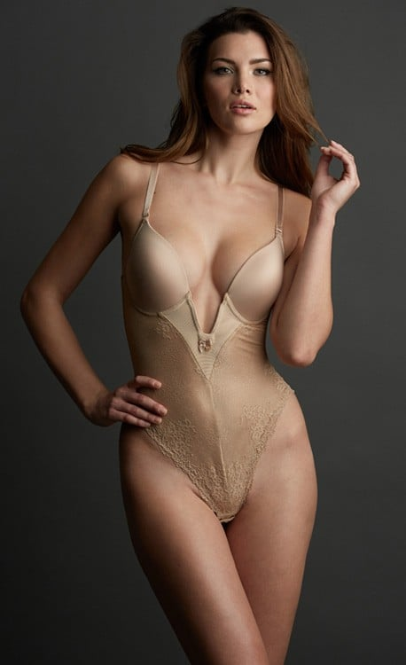 Marquise Low Plunge Bodysuit ($125)