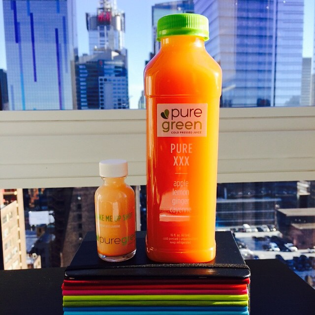 My favorite #coldpressed #juice !! @thepuregreen #healthy #lifestyle #nyc (at W42nd Street, Manhattan)