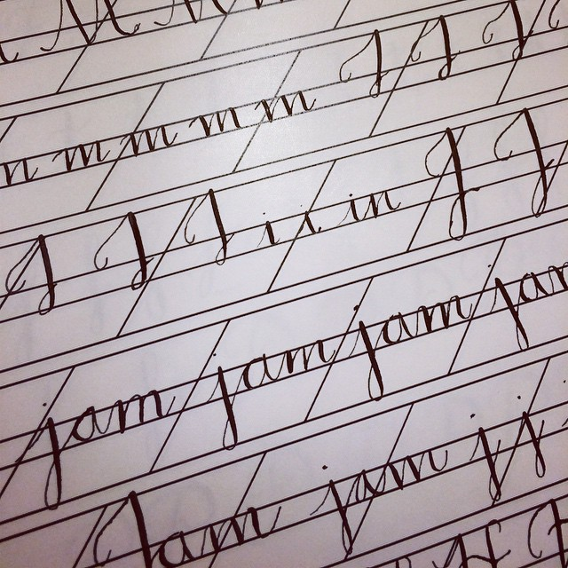#calligraphy practice! #lettering #NYC  (at Manhattan New York, N Y)