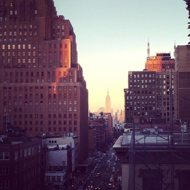 #tribeca #NYC #sunset #birthday #empire state of mind (at Smyth - a Thompson Hotel)