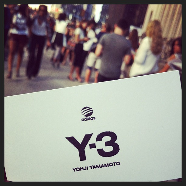 #Y-3 #YohjiYamamoto #fashion #nyfw