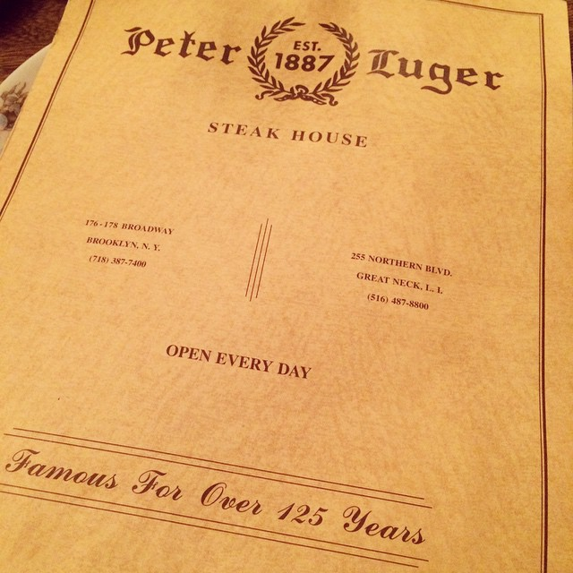If you want a big meaty steak in #NY check out @PeterLuger #steak #foodie #brooklyn (at Peter Luger Steak House Est. 1887)