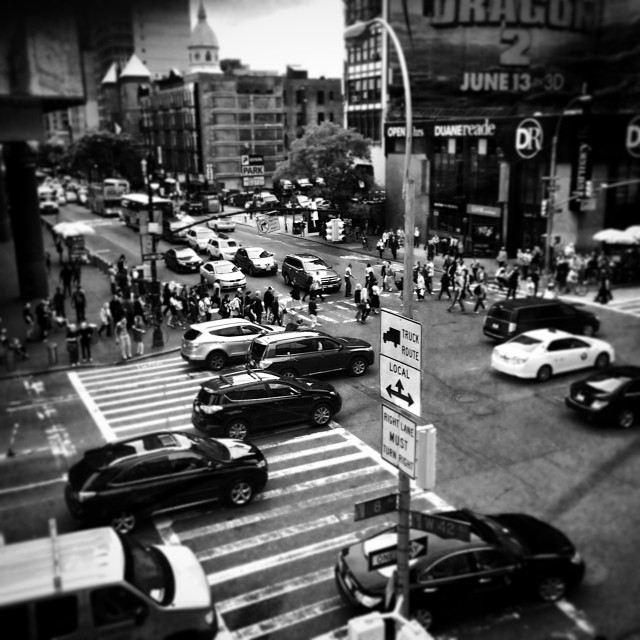 #nyc #streets #newyorkinblackandwhite (at 42st Times Square)