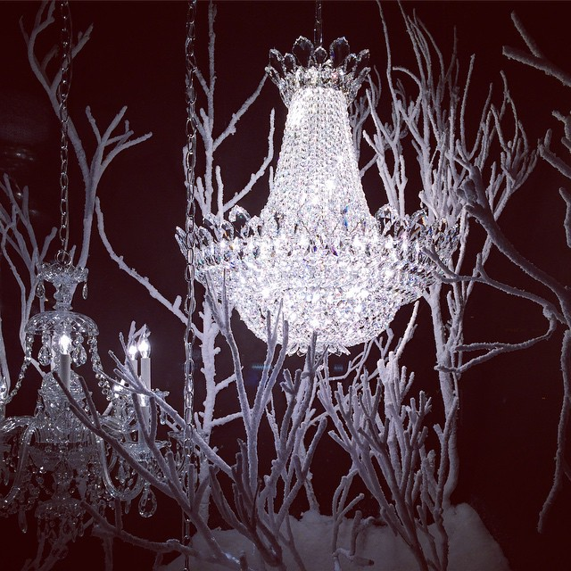 Beautiful #NYC window display #GraciousHome #schonbek #chandeliers #interiors #decor #winter #sparkle (at Gracious Home East Side)