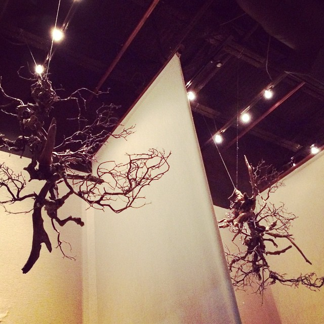 Beautiful driftwood sculptures & great food! #miso #ATL #restaurant #foodie (at Miso Izakaya)