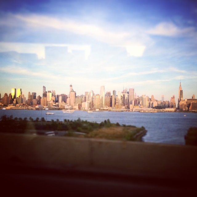 Bye #nyc heading to the mountains to enjoy #nature & family time! (at New York and New Jersey border line)