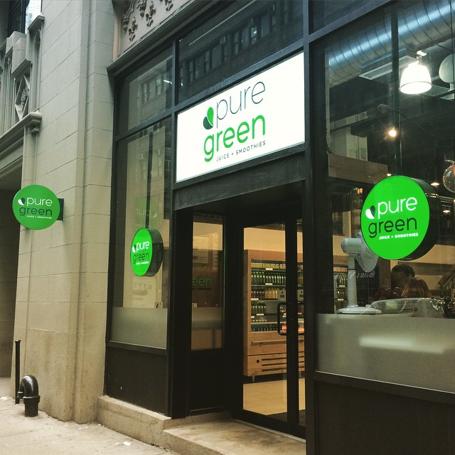 Check out #NYC 's newest #coldpressedjuice company! @thepuregreen | #branding by @PSDesignNYC