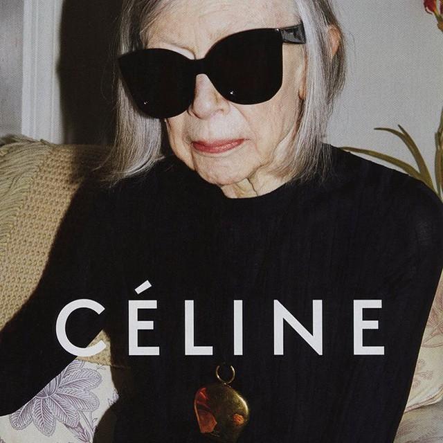 Joan Didion is killing it in her new Céline 2015 #ad! @Céline #joandidion #fashion (at Manhattan, New York)