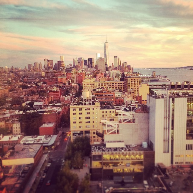 #nyc #skyline #sunset  (at Le Bain at The Standard, High Line)