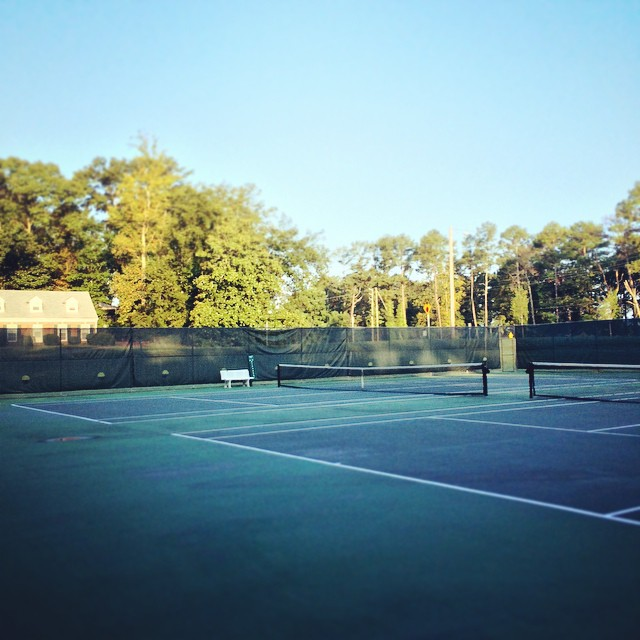 Nice to be first on the courts today! #tennis #atl (at Abernathy Park)