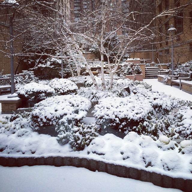 #snow in the #city #NYC (at W42nd Street, Manhattan)