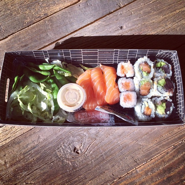 #sushi #lunch box from #sushishop (at The Sushi Shop)