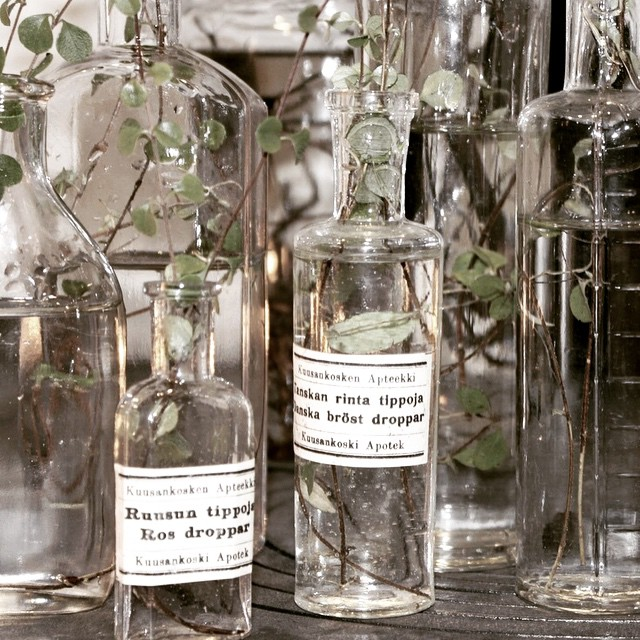 #vintage #apothecary bottles #design #interiors  (at 42nd Street (Manhattan))