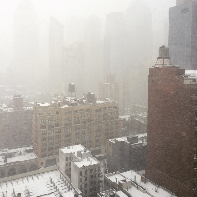 #snow #NYC (at 360 West 43rd Street)
