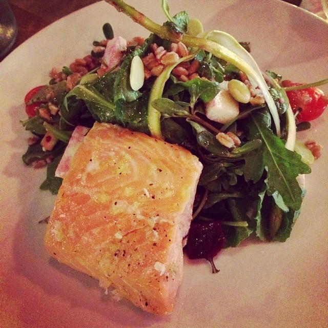Salmon Salad at #urbo, delicious! @urbonyc #timessquare #foodie #nyc  (at Urbo NYC)