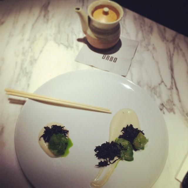 Delicious fluke crudo! #urbo @urbonyc #foodie #timessquare #nyc  (at Urbo NYC)