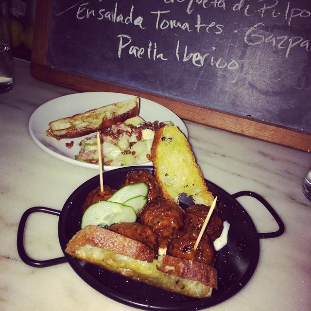 #lamb #meatballs & #tuna ❤️#foodie #nyc #gothamwest (at El Colmado)