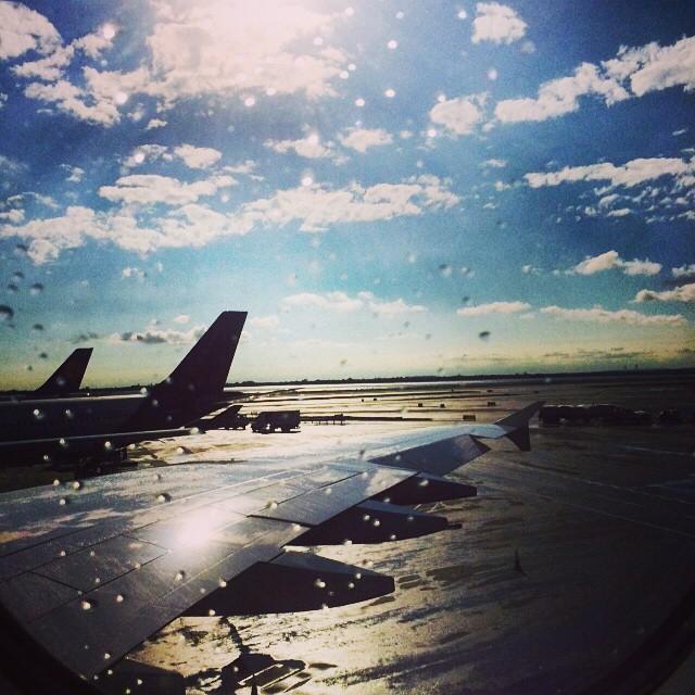 #rain, #sunshine, new cities … departing on a new #adventure. #wanderlust (at Lufthansa - JFK International Airport Terminal 1)