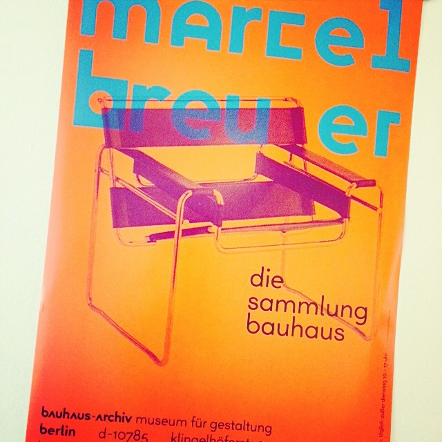 Marcel Bruer on display at #Bauhaus #design #Berlin  (at Bauhaus-Archiv Museum für Gestaltung)