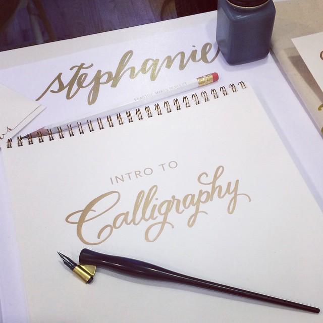 I learned so much at the @lhcalligraphy workshop today!! Can't wait to start writing! #NYC #calligraphy #lettering #typography #design (at The Lofts at Prince)