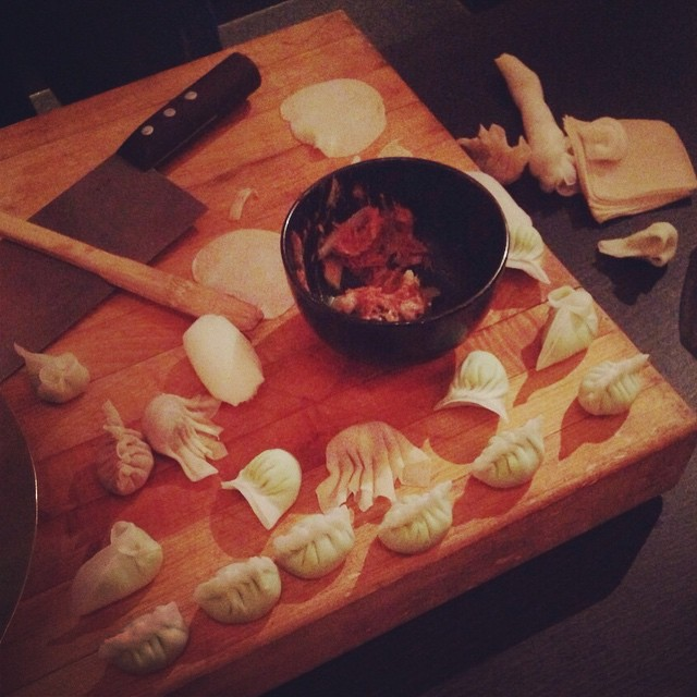 Making #dumplings at #buddakan  (at Buddakan)