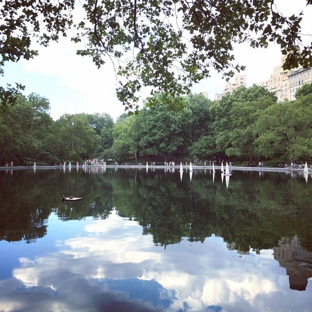Beautiful day at the park  (at Central Park Sailboat Pond)