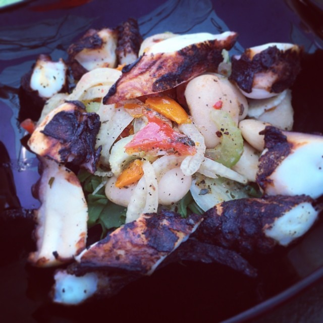 Octopus salad (at The Island Mermaid)