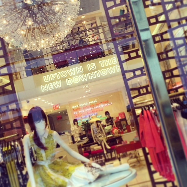 "Kate Spade & I agree! ""Uptown is the new downtown"" #nyc #fashion #katespade (at Kate Spade Madison)"