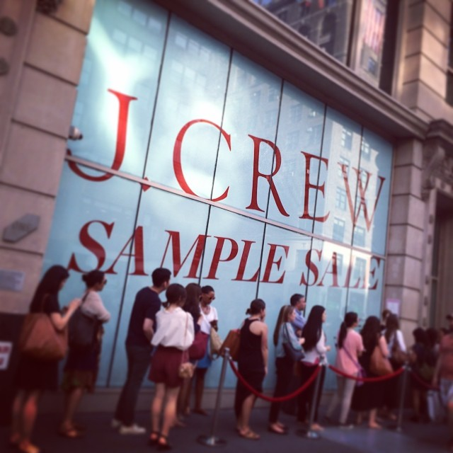 I ❤️ #nyc! #jcrew sample sale #260fifth (at 260 Sample Sale)