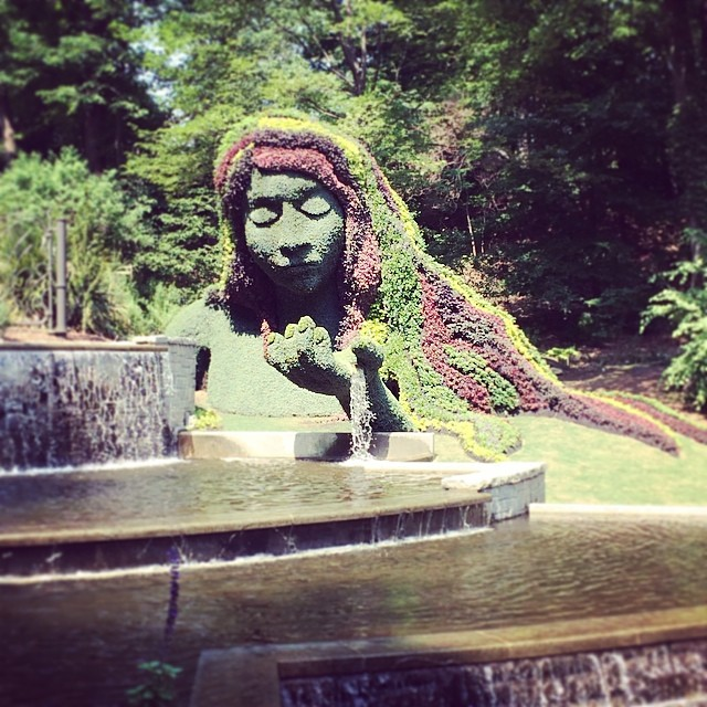#Earth goddess, living #sculpture (at Atlanta Botanical Garden)