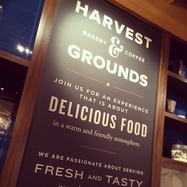 Our design is live! Harvest & Grounds #ATL | #logo #branding #environmental #design #signage #menus | designed by @PSDesignNYC (at Harvest & Grounds)