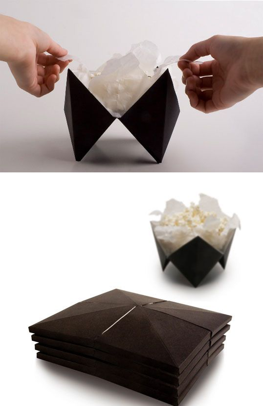clever popcorn packaging