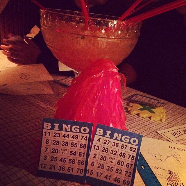 Sunday night #bingo party! @standardhotel #nyc #meatpacking #winning (at Standard Grill @ The Standard Hotel)