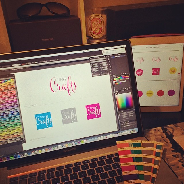 Friday night, putting in #work… #logo #brand ID #design life #nyc  (at My House)