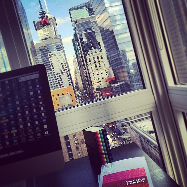 View from my new corner office space! #timessquare #nyc #design #studio (at Times Square)