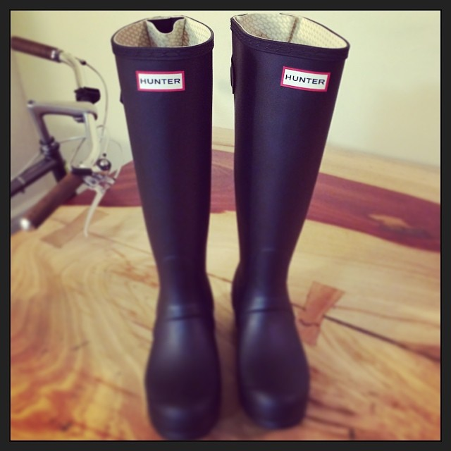 New #Hunter boots arrived just in time for #nyc spring showers! (at New York City)