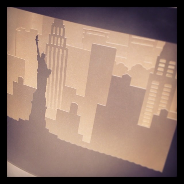 A beautiful card, from a very special friend :) #nyc #skyline