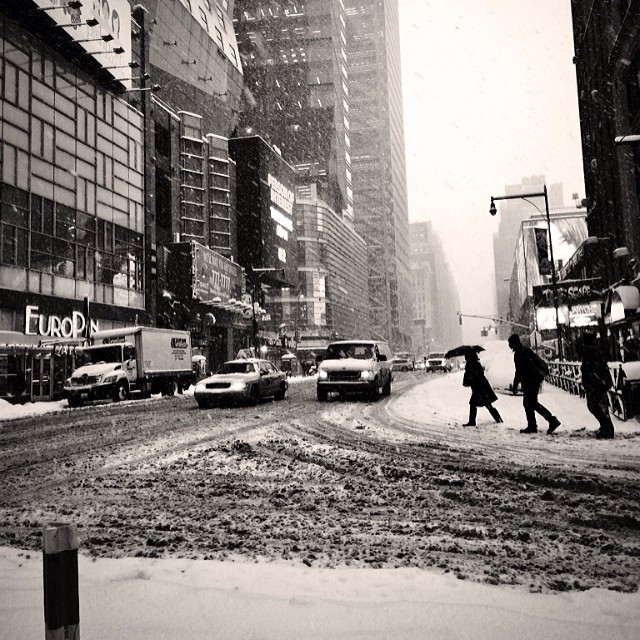#nyc #snow (at Times Square)