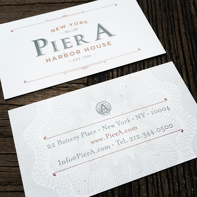 Business cards for Pier A, by @psdesignnyc #design  (at Times Square)