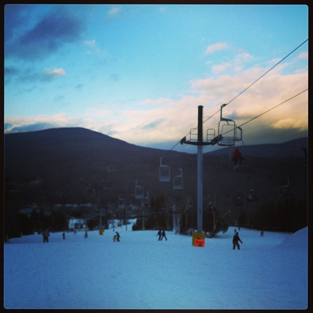 #ski #sunset (at Hunter Mountain Ski Resort)