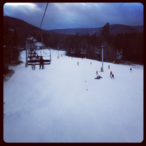 #ski time  (at Hunter Mountain Ski Lift)