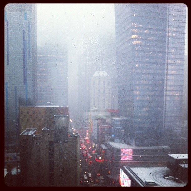 #snow #nyc (at Times Square)