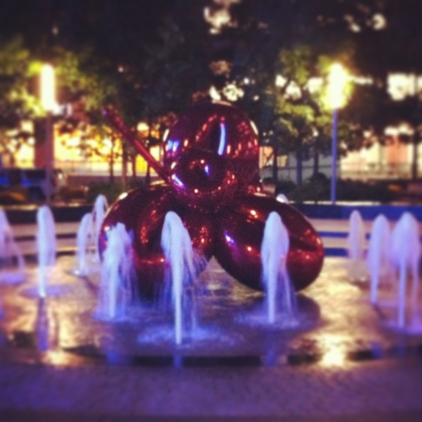 #JeffKoons #nyc (at Jeff Koons Balloon Flower)