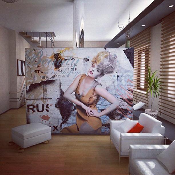 Loft Wall Design (Taken with Instagram)